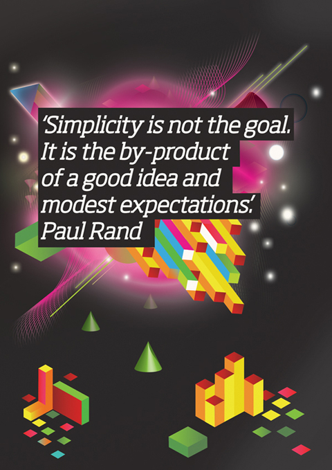 paul rand quote on simplicity
